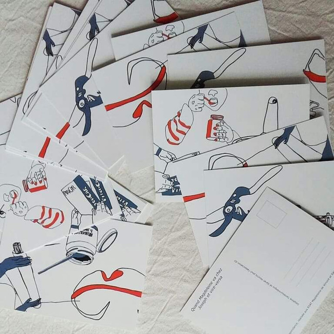 édition d'une série de cartes postales du projet