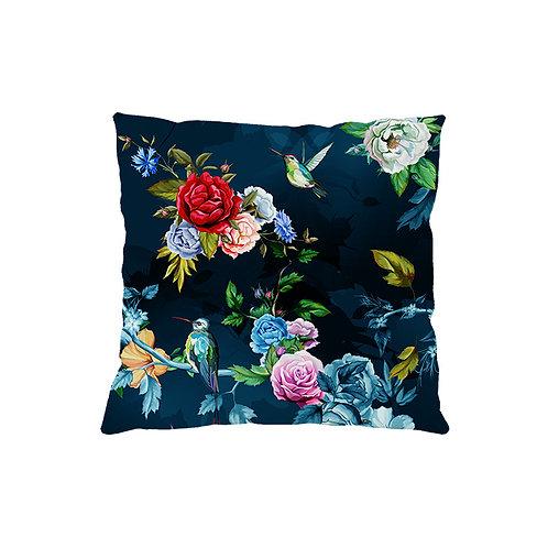 Cushion cover Blue Hummingbird