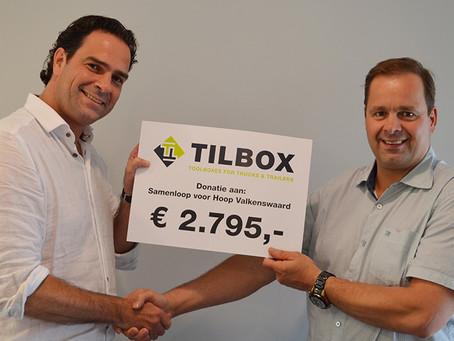 Fantastische bijdrage TILBOX aan Samenloop voor Hoop Valkenswaard