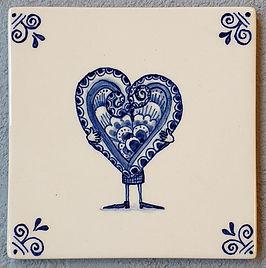 Delftst blauwe tegel