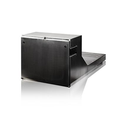 Gereedschapskist Vrachtwagen Toolbox Tilbox Onderbouwkist RAL9011RVS OpbergruimteKastTrailer Koffer Inox koffer Palletwagen