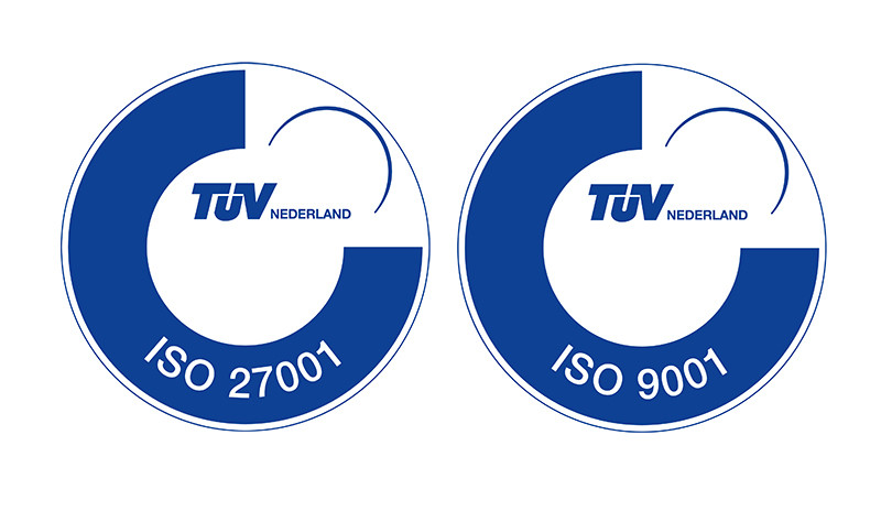 ISO 27001 and ISO 9001 certified