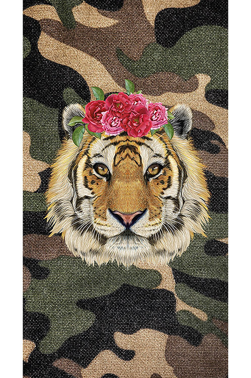 Beachtowel Tiger Rose