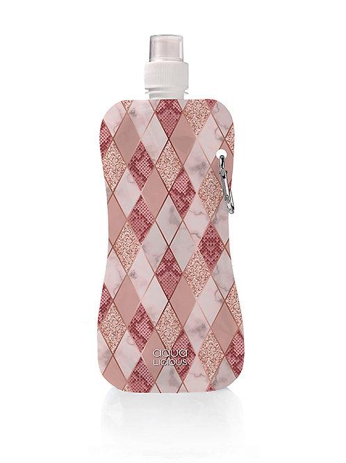 Waterflesje Pink Rombus