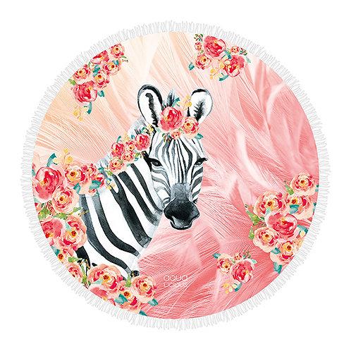 Roundie Towel Zebra Boho