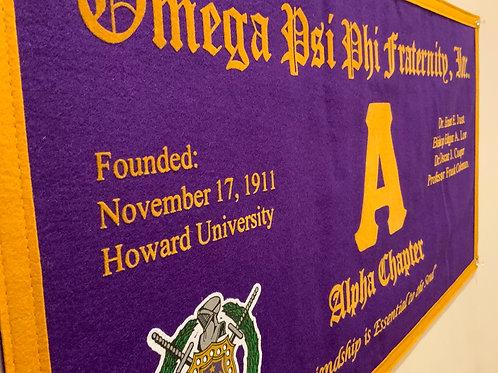 Alpha Class Collegiate Banner (Omega Psi Phi)