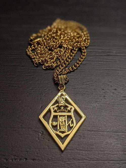 KAP Shield Diamond Pendent (Gold)