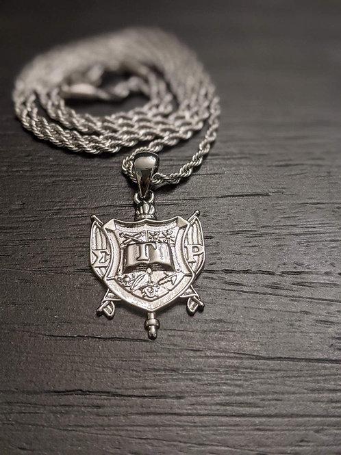 SGR Sigma Gamma Rho Shield (Silver)
