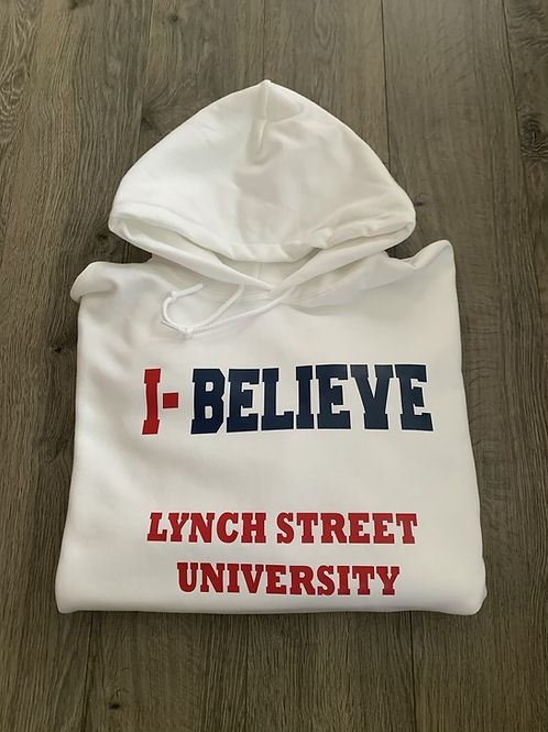 I-Believe Hooded Sweatshirt (White)