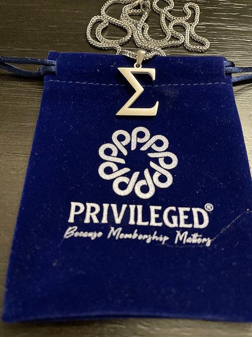 PBS Sigma Mini Pendant (Silver)
