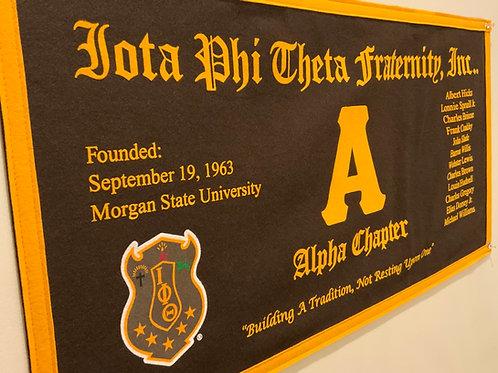 Alpha Class Collegiate Banner (Iota Phi Theta)
