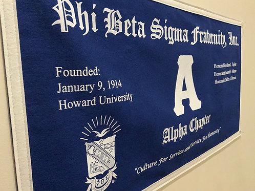 Alpha Class Collegiate Banner (Phi Beta Sigma)