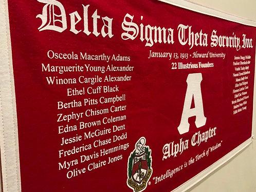 Alpha Class Collegiate Banner (Delta Sigma Theta)