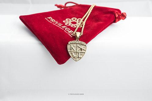 KL Kappa League Shield Pendent (Gold)