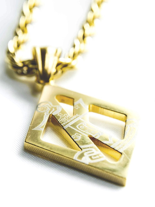 KAP Floating K COA Pendent (Gold)