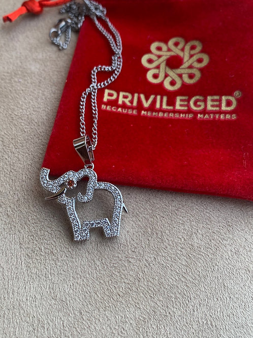 """""""Trunks Up"""" Pendant (Silver)"""