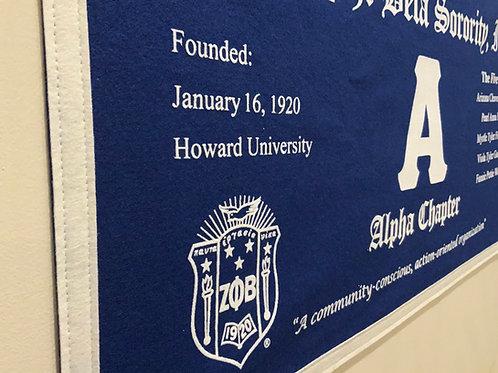 Alpha Class Collegiate Banner (Zeta Phi Beta)