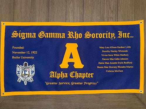 Alpha Class Collegiate Banner (Sigma Gamma Rho)