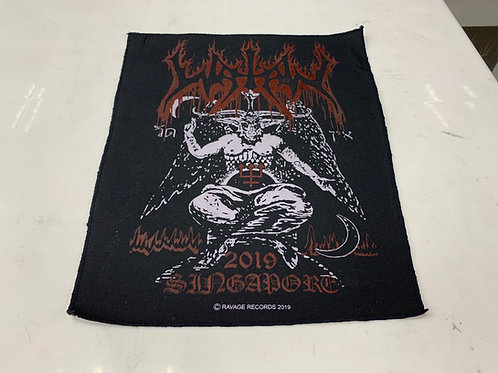 Watain - Live in Singapore back patch