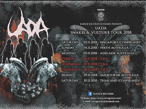 UADA - ASIA / AUSTRALIA / NEW ZEALAND TOUR 2018