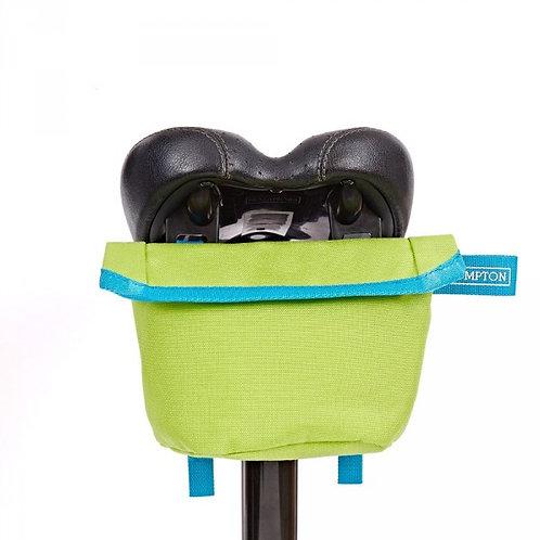 Brompton Saddle Pouch Bag Lime Green/Lagoon Blue