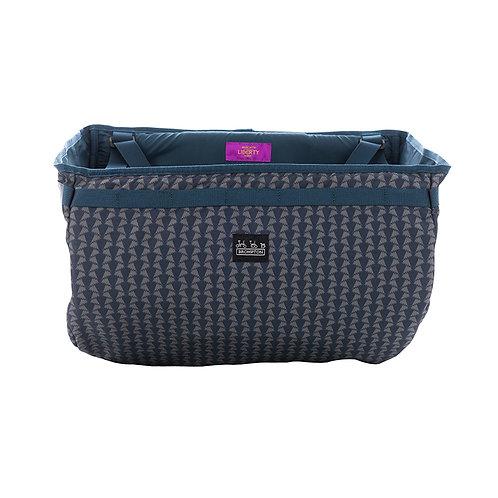 Basket Bag Made with Liberty Fabric Jonathan