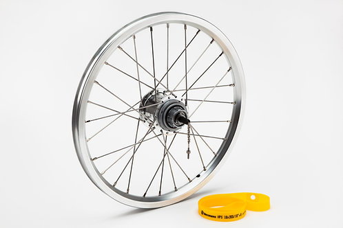Rear wheel incl fittings for 6-spd - BWR 3-spd (Silver)