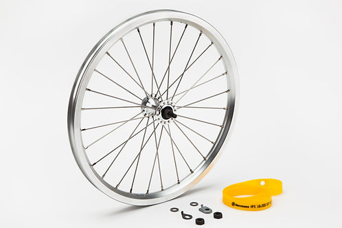 Front wheel radial lacing incl fittings - Standard (Silver)