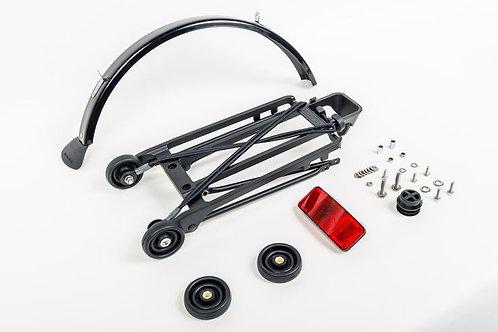 Brompton Rack set complete incl 4 rollers + mudguard - 6mm holes (Black)
