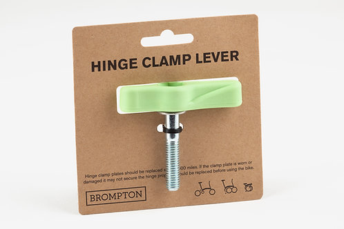 Brompton Hinge Clamp Lever/Bolt Assembly Lime