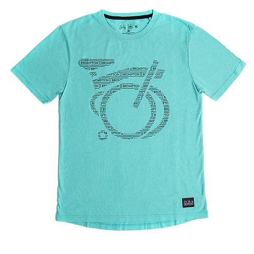 Logo Collection Graphic T-shirt in Turkish Green, Size M