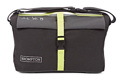 Brompton Roll Top Bag Grey/Black/Lime Green