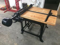 Antique board shear restoration