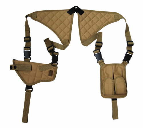 Tan Shoulder Holster and Mag Pouch