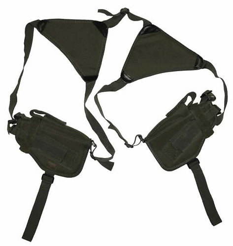 Olive Drab Double Horizontal Shoulder Holsters