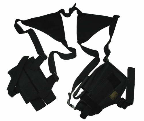 Black Horizontal Shoulder Holster and Mag Pouch