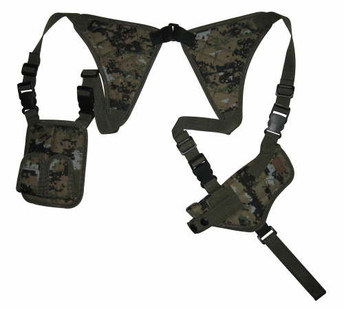 Woodland Digital Shoulder Holster and Mag Pouch