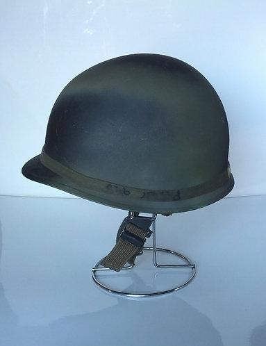 US Army Surplus M1 Painted Black Camo Helmet