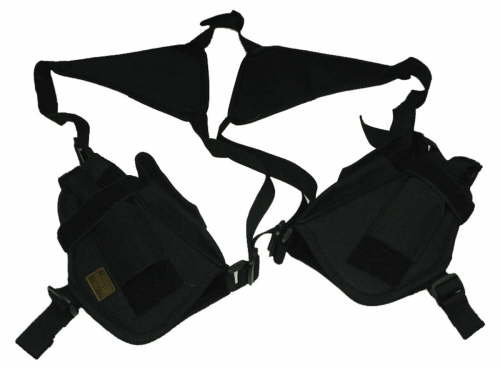 Black Double Horizontal Shoulder Holsters