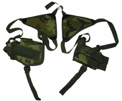 Woodland Horizontal Shoulder Holster and Mag Pouch