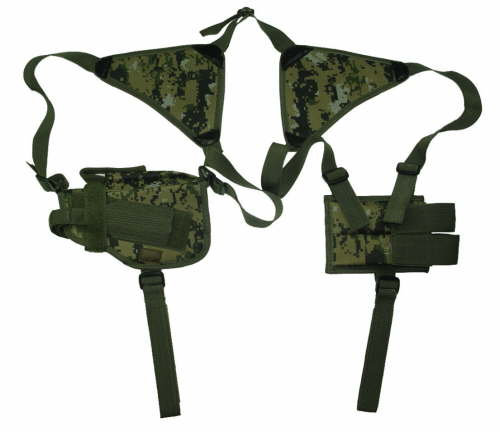 Woodland Digital Horizontal Shoulder Holster and Mag Pouch