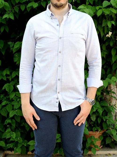 İnterview Sarar Goias Keten Slim Fit Gömlek GK002 Mor