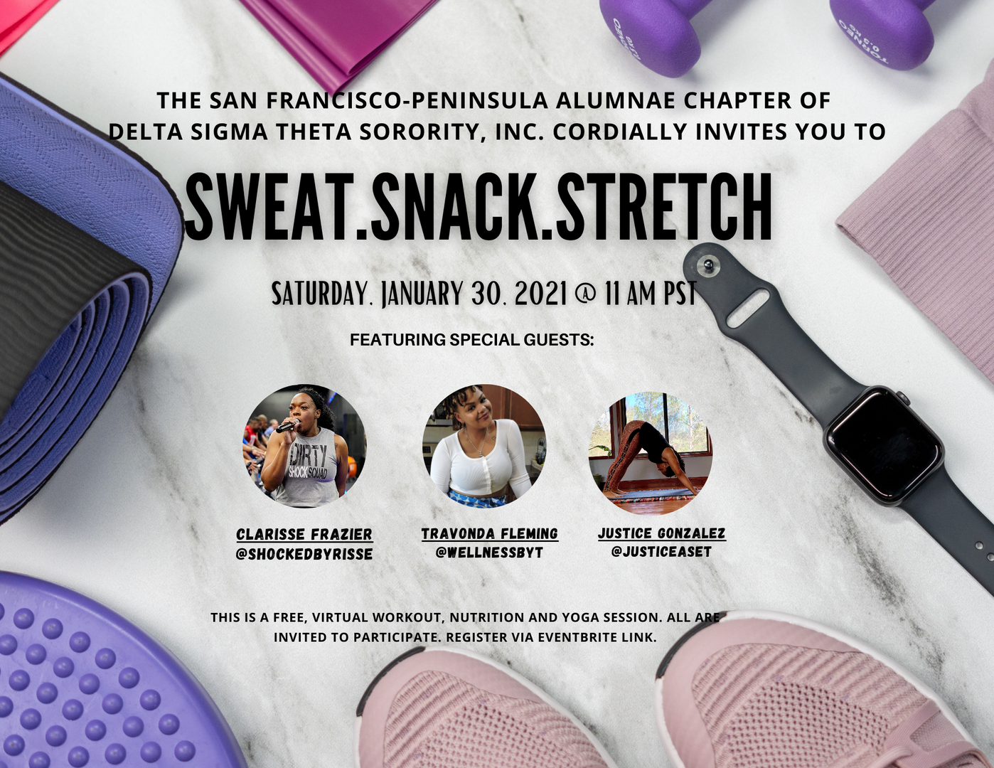 Sweat.Snack.Stretch
