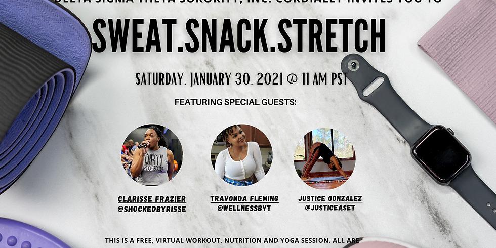 Sweat. Snack. Stretch: A Wellness Event