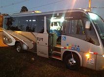 Aluguel de micro-ônibus com wc em Brasília DF.