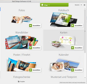 Saal-Digital Produktauswahl