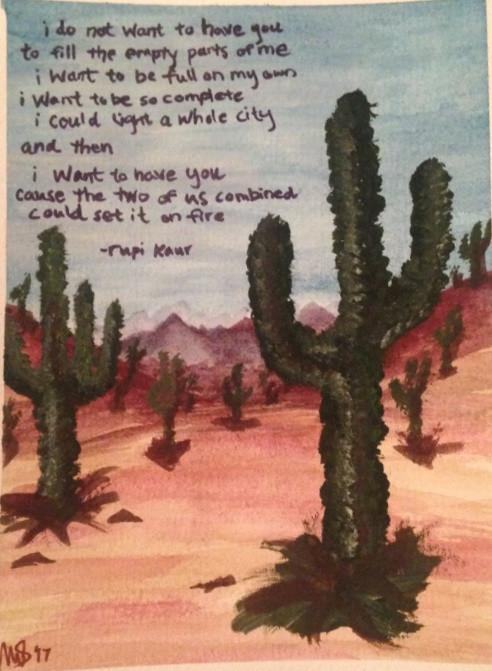 watercolor desert