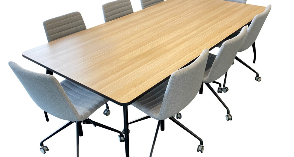 SCHNEIDER Electrical. Main Meeting Room.  V4 SV2 Table. V11 Ribbed Chair.  VYSTAN.  (image is copyright)
