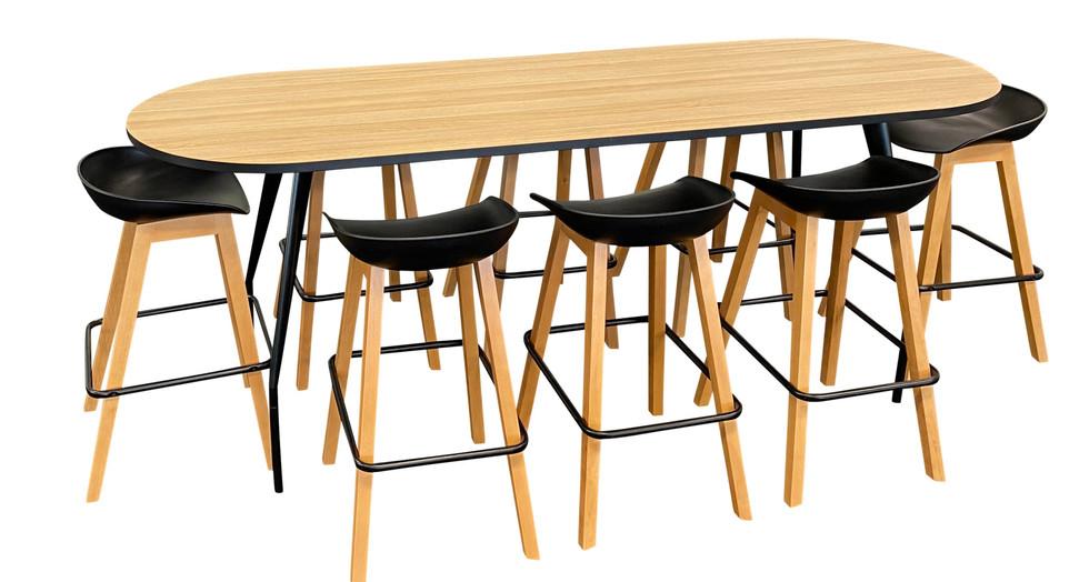 SCHNEIDER Electrics. V4 SV2 Collaboration Table.  V5 Barstool.  VYSTAN. (image is copyrigh