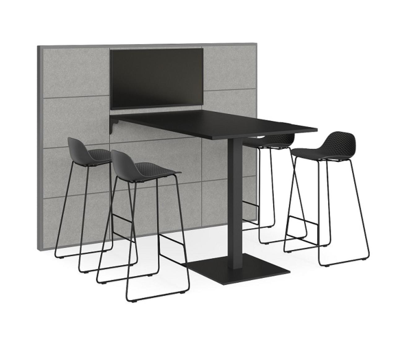 V8 media wall + collaboration table